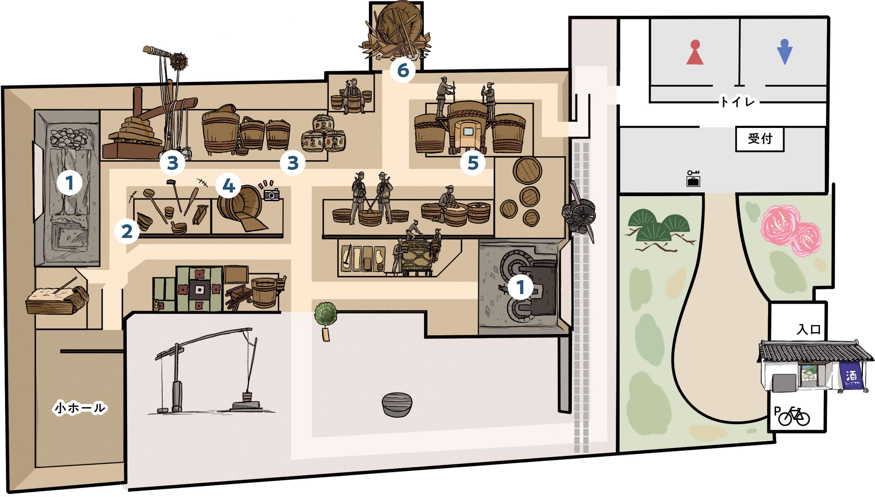 酒蔵館フロアマップ